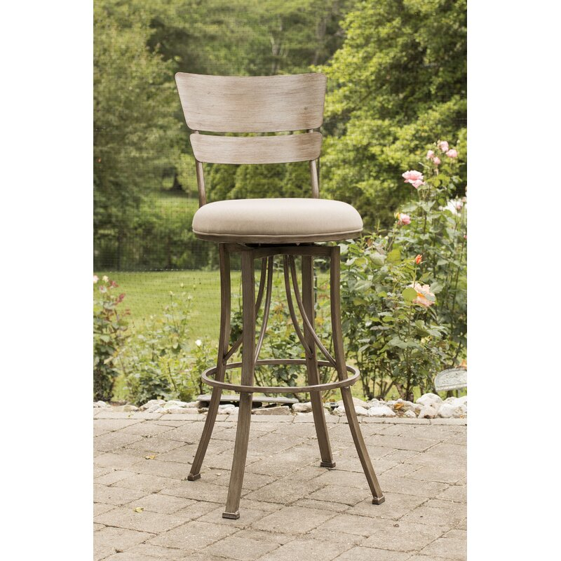 Ilyana 30 Swivel Indoor Outdoor Patio Bar Stool