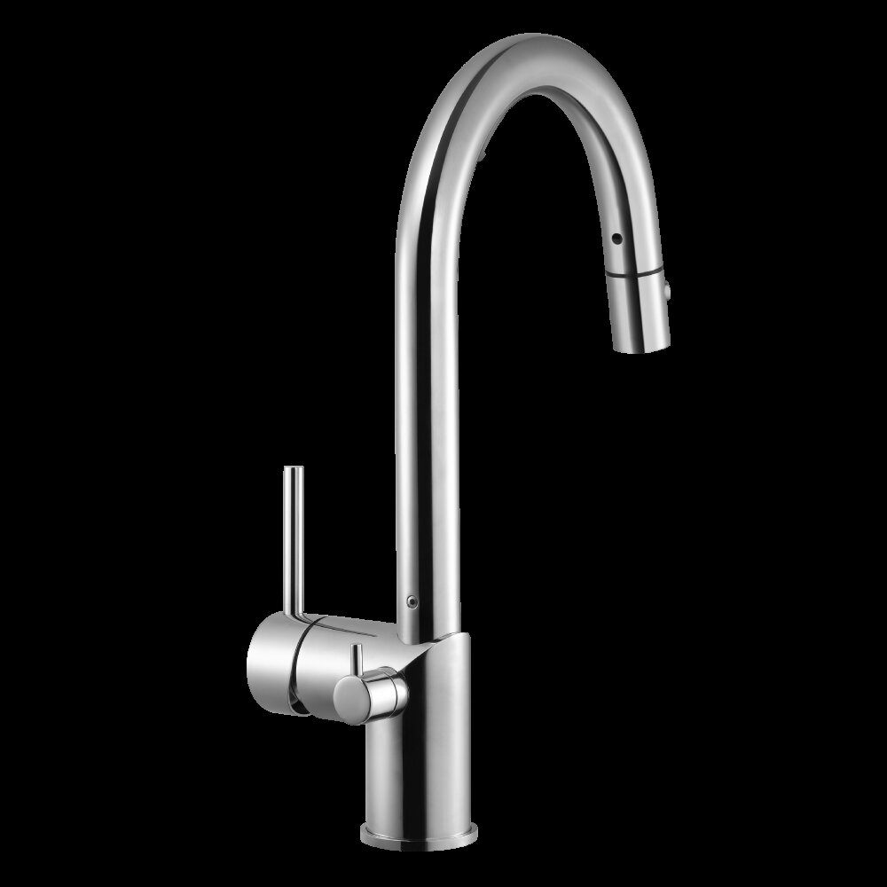 Houzer Sentinel Pull-down Single Handle Kitchen Faucet | Wayfair