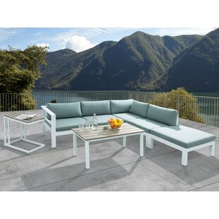 Somerset 4 Piece Sectional Seating Group with Cushions