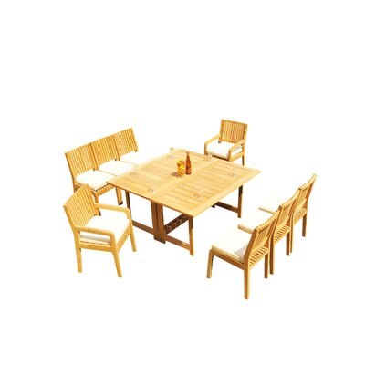 Mastin 9 Piece Teak Dining Set by Rosecliff Heights Top Reviews