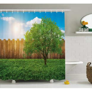 Scenery Life Tree Yard Field Single Shower Curtain