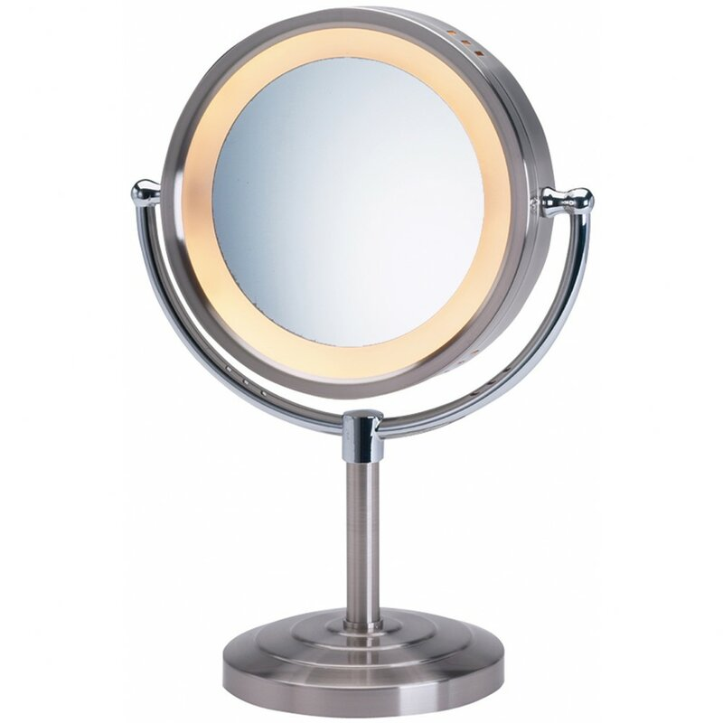 Halo Lighted Tabletop Vanity Mirror