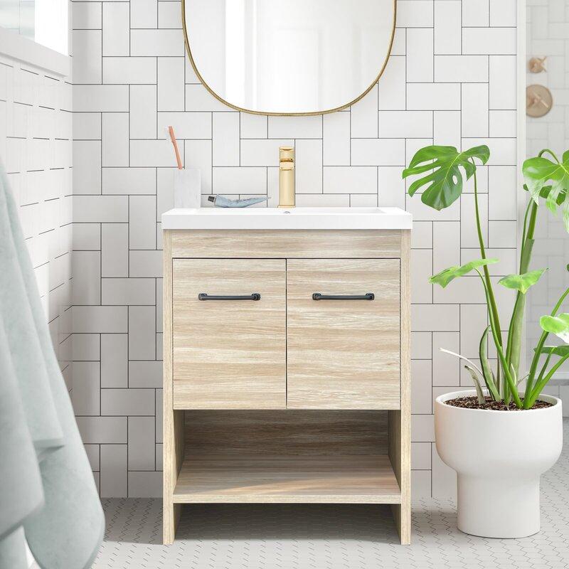 George Oliver 24 Single Bathroom Vanity Set Reviews Wayfair