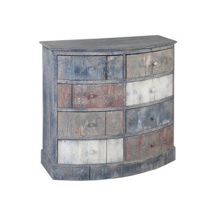 Pagano Bow Front 8 Drawer Accent Chest by World Menagerie