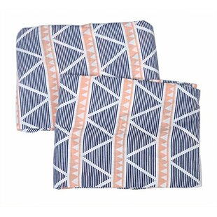 Find Tyann Triangles Muslin Fitted Crib Sheets (Set of 2) By Harriet Bee