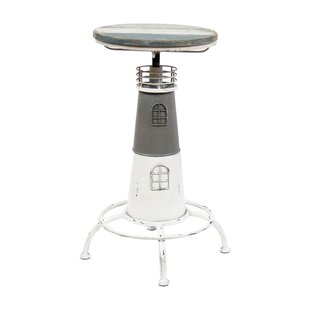 Nautical Cape Cod Lighthouse Adjustable Height Pub Table by Vandue Corporation