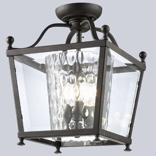Cully 3-Light 60W Semi Flush Mount by Darby Home Co