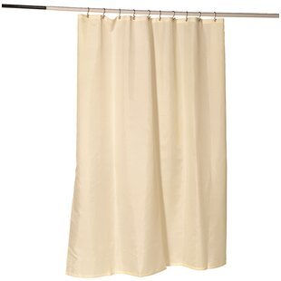 Nylon Fabric Single Shower Curtain Liner with Reinforced Header and Metal Grommets