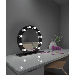 Reviews Treyton Dimmable Makeup/Shaving Mirror By Rosdorf Park