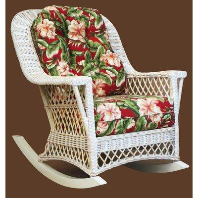 Rosado Rocking Chair Bay Isle Home Color: White, Fabric: Hamakua Ebony