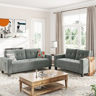 Orisfur. Sofa Set Morden Style Couch Furniture Upholstered Armchair, Loveseat And Three Seat For Home Or Office (2+3 Seat) by Latitude Run
