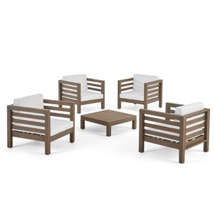 Box Outdoor 5 Piece Multiple Chairs Seating Group with Cushions by Corrigan Studio