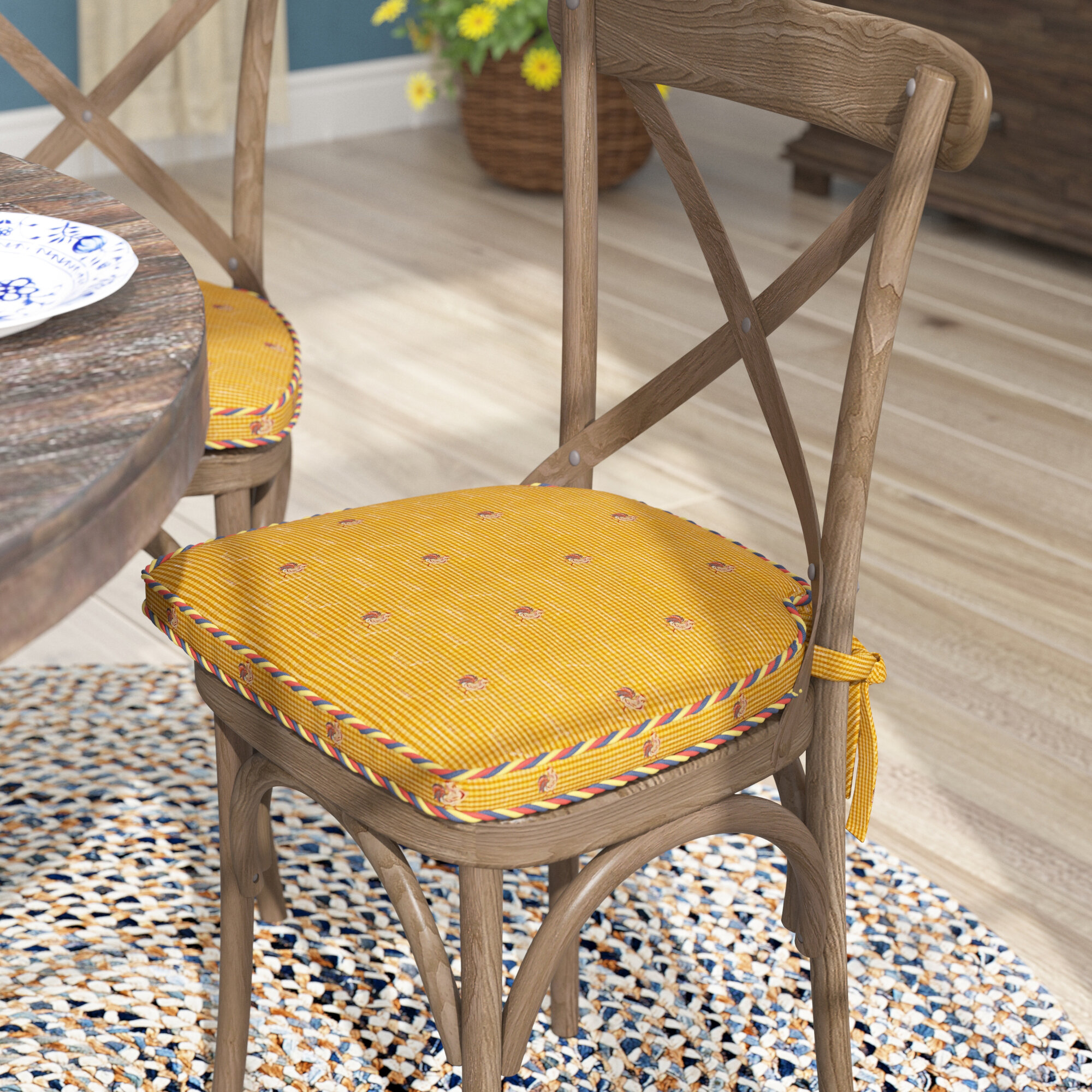 August Grove Tailored Indoor Dining Chair Cushion Reviews Wayfair