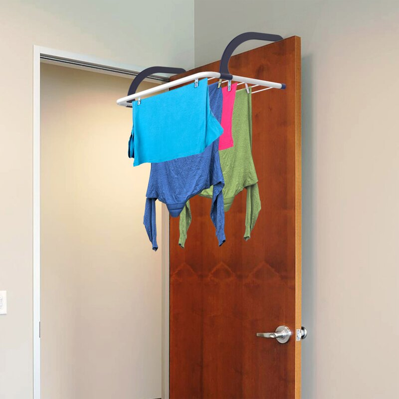 Rebrilliant Over Door Clothes Wall Mounted Drying Rack Wayfairca