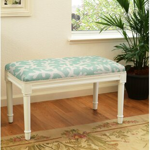 Highland Dunes Dehner Coral Wood Bench