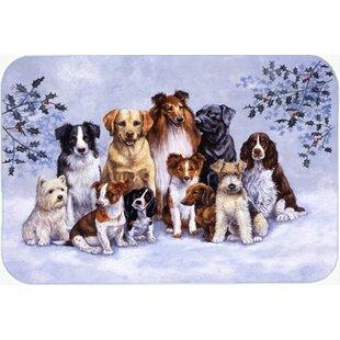 Winter Dogs Glass Cutting Board