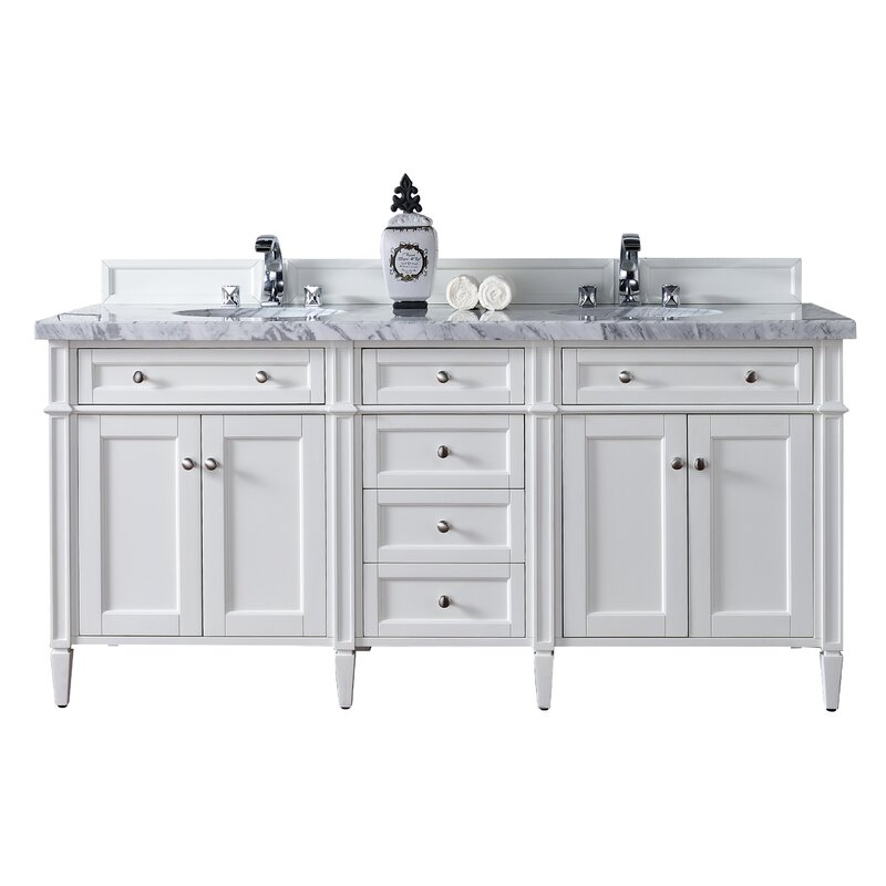James Martin Furniture Brittany 72 Double Bathroom Vanity Base Only Reviews Wayfair
