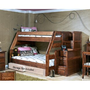 Algomera Twin Over Full Bunk Bed with Stairway Chest