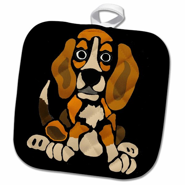 3drose Cool Funny Beagle Puppy Dog Abstract Art Original Potholder Wayfair