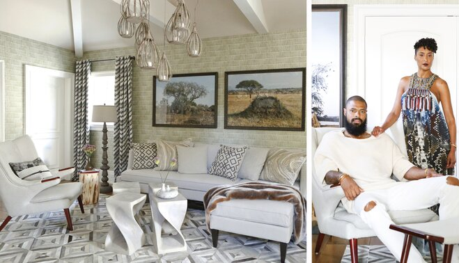 Designer QA Jeff Andrews And NBA Star Tyson Chandler Wayfair Enchanting Living Room Chandler