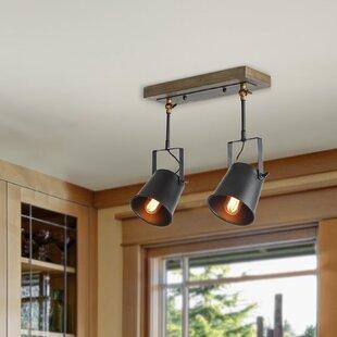 LNC Home Wood Spotlight 2-Light Flush Mount