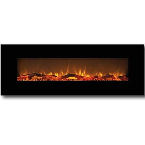 Byrns Wall Mount Steel Electric Fireplace by Brayden Studio