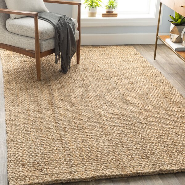 Jayleen Hand Flatweave Wheat Area Rug by Joss & Main