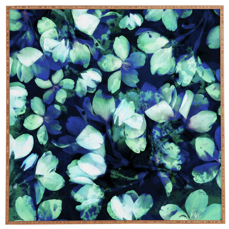 East Urban Home Cherry Blossoms Blue Framed Wall Art Reviews Wayfair