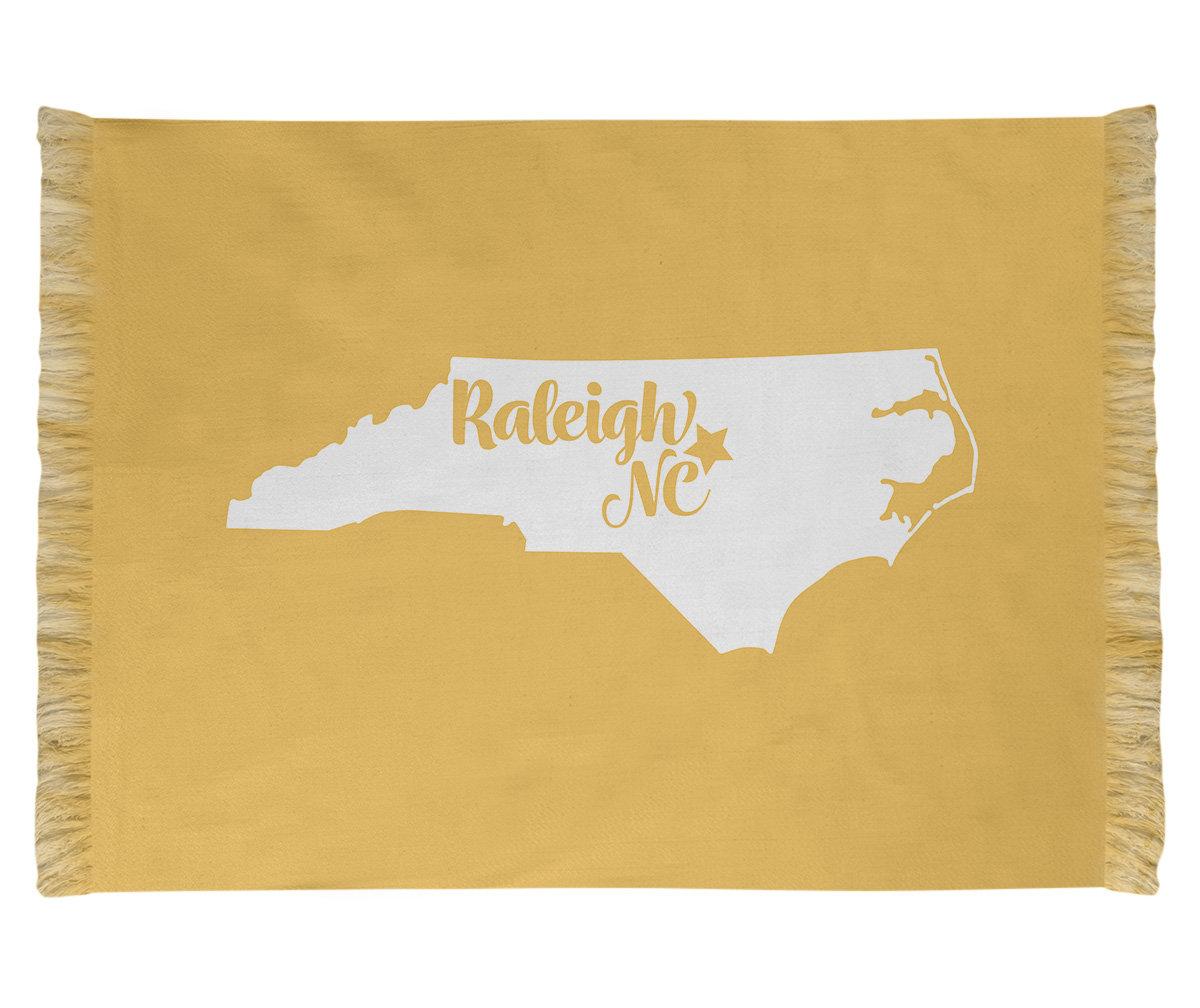 East Urban Home Raleigh North Carolina Yellow Area Rug Wayfair