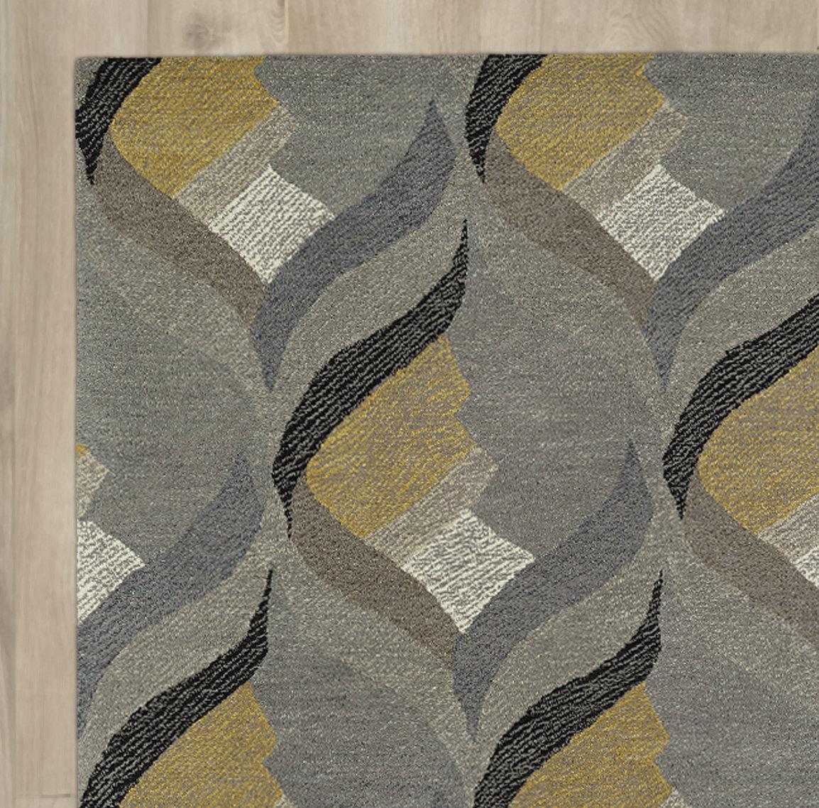 Brayden Studio Louane Hand Tufted Gray Area Rug Reviews Wayfair