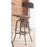 Seguin Adjustable Height Bar Stool (Set of 2) by Williston Forge