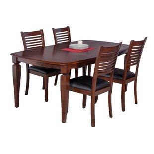 Besse 5 Piece Solid Wood Dining Set
