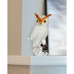 Owl Art Glass Figurine
