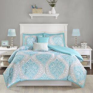 bedding set aqua comforter reversible louisville keyword save bed wayfair