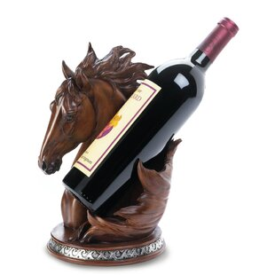 Asner Horse 1 Bottle Tabletop Wine Rack b..