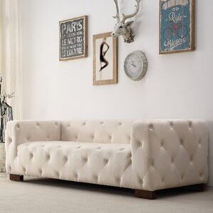 Ossett Tufted Elegant Cheaterfield Sofa by Mercer41