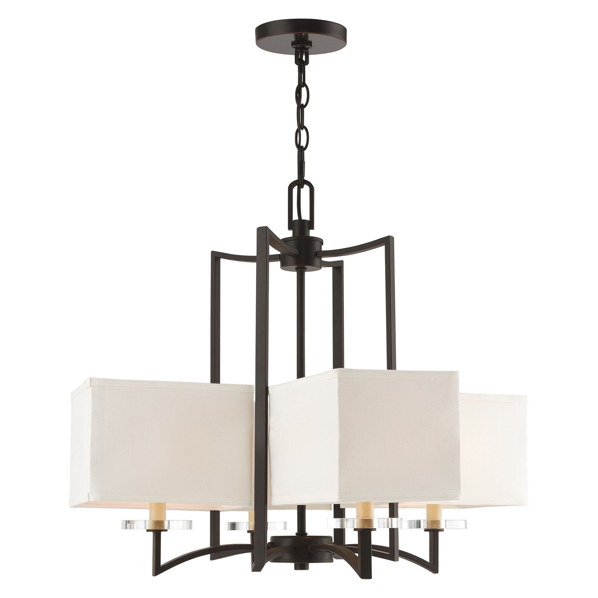 Latitude Run Amenia 4 Light Shaded Classic Traditional Chandelier With Crystal Accents Reviews Wayfair