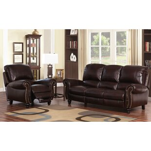 Darby Home Co Kahle 2 Piece Leather Living Room Set