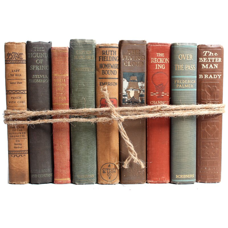 Authentic Decorative Books By Color Antique Harvest Colorpak 1 Linear Foot 10