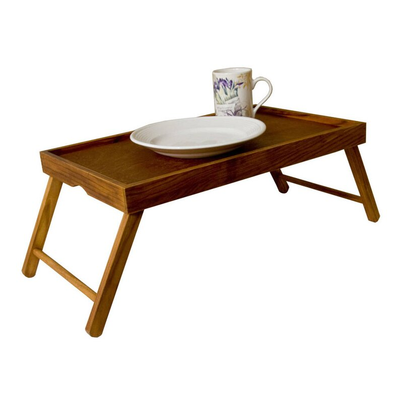 Amazing Rustic Pine Wood Folding Legs Breakfast In Bed Food Serving Laptop Tray  Table