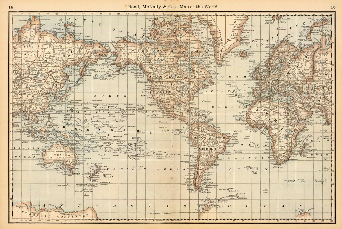 Nice Map Of The World Wall Mural Part 18