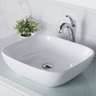 Buying Elavo Square Vessel Bathroom Sink with Faucet By Kraus