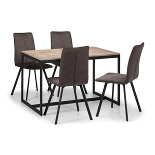 Kaul Dining Set With 4 Chairs (Set Of 5) By Mercury Row