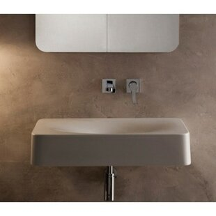 Scarabeo by Nameeks Fuji Ceramic Rectangular Vessel Bathroom Sink