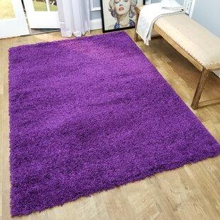 Inexpensive Burns Solid Purple Area Rug ByZipcode Design
