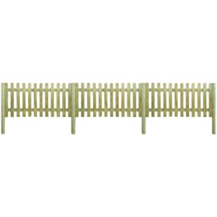 3' x 7' (1m x 2m) Picket Fence Panel (Set of 3) by dCor design