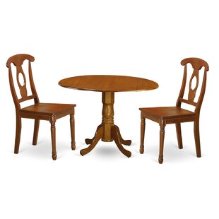 Charlton Home Gloucester 3 Piece Dining Set