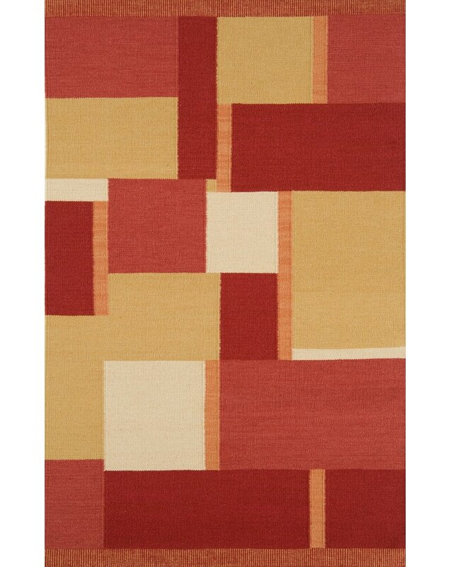 Continental Rug Company Nouveau Geometric Hand Knotted Wool Red Area Rug Wayfair