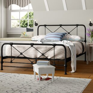 Cherrie Modern and Contemporary Stippled Queen Platform Bed by August Grove