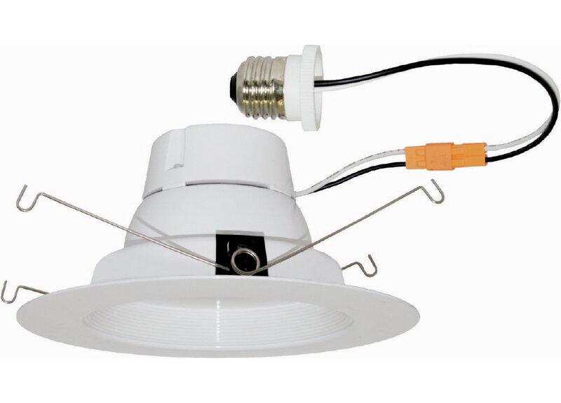 elcolighting led baffle insert 5 led recessed retrofit downlight